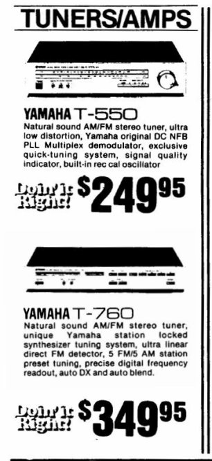 April 1981 advertisement for the T-560 and T-760