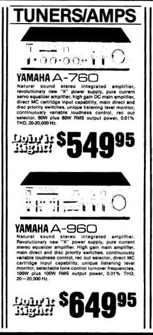 April 1981 advertisement for the A-760 and A-960