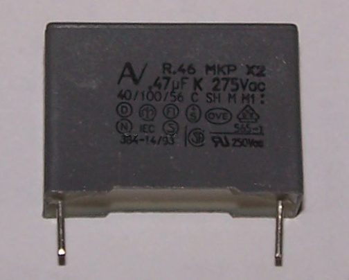 The replacement capacitor